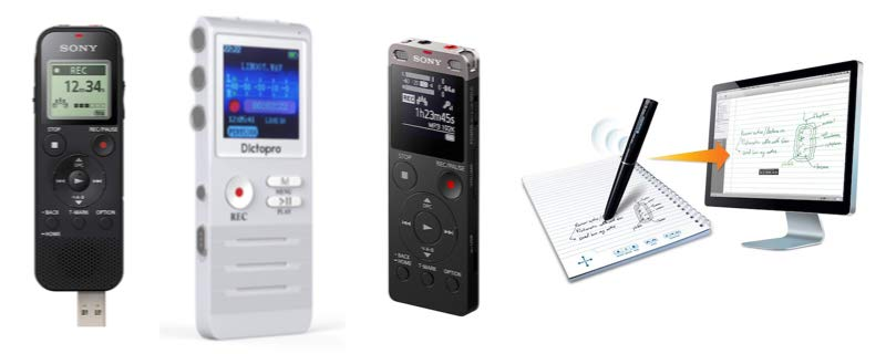 Four digital recording devices available today