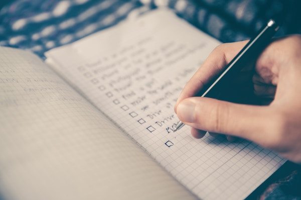 Make a list of your goals and values