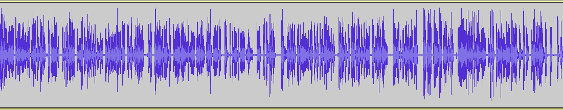 A waveform showing the sounds created by human speech
