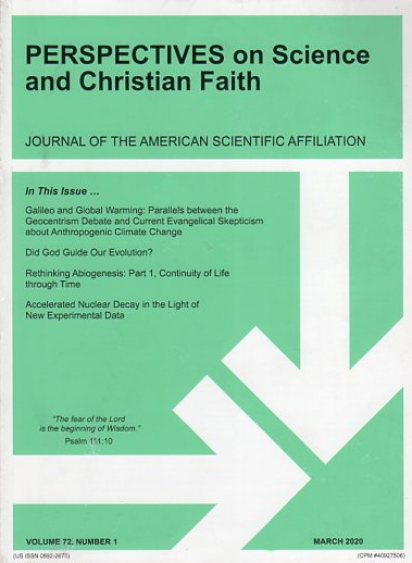 Perspectives on Science and Christian Faith, March 2020, Vol. 72 No. 1