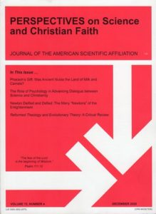Perspectives on Science and Christian Faith, December 2020, Vol. 73 No. 4