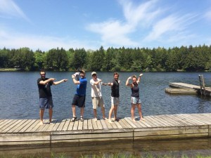 Our might fine dock crew!