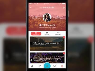 Dreams List App by Marcin Ostrowski