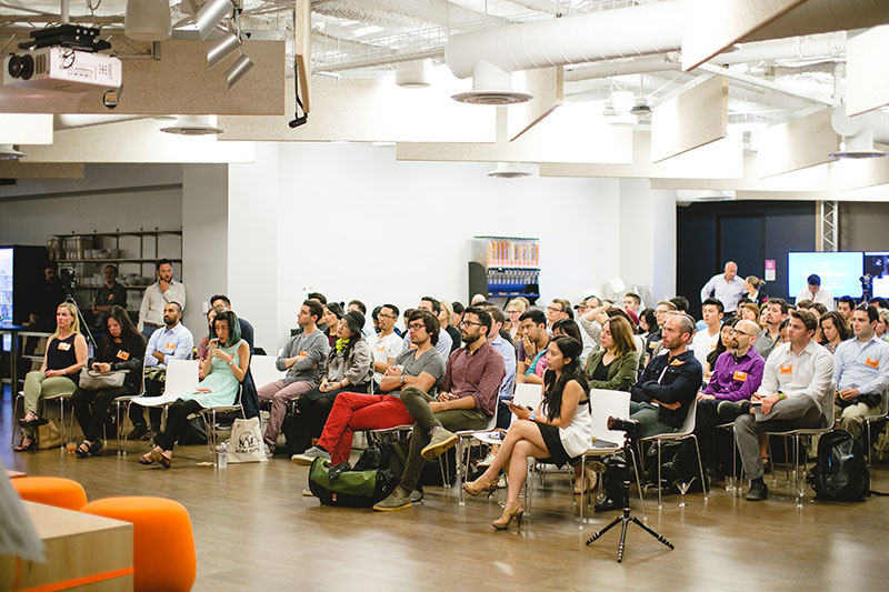 The crowd at InVision's Design + Venture event earlier this year.