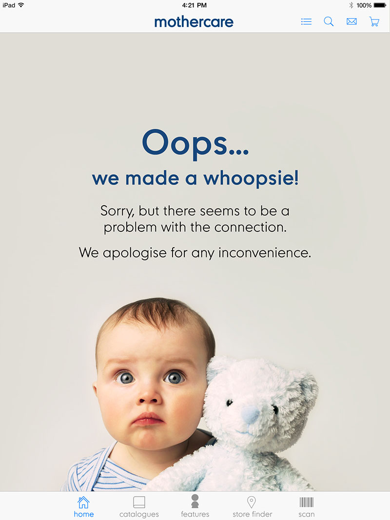 Mothercare: connection problem