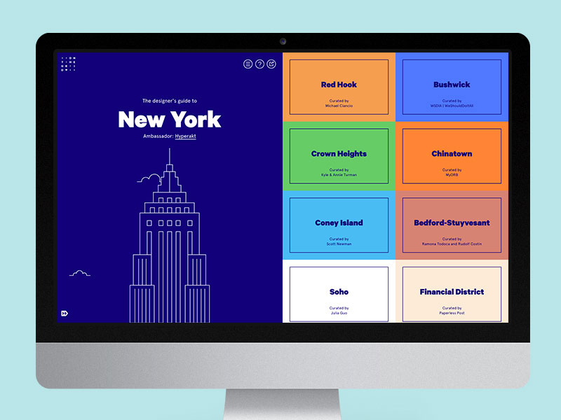The city landing page's split screen design allows us to give cities a grand cover while also allowing access to its diverse neighborhoods.