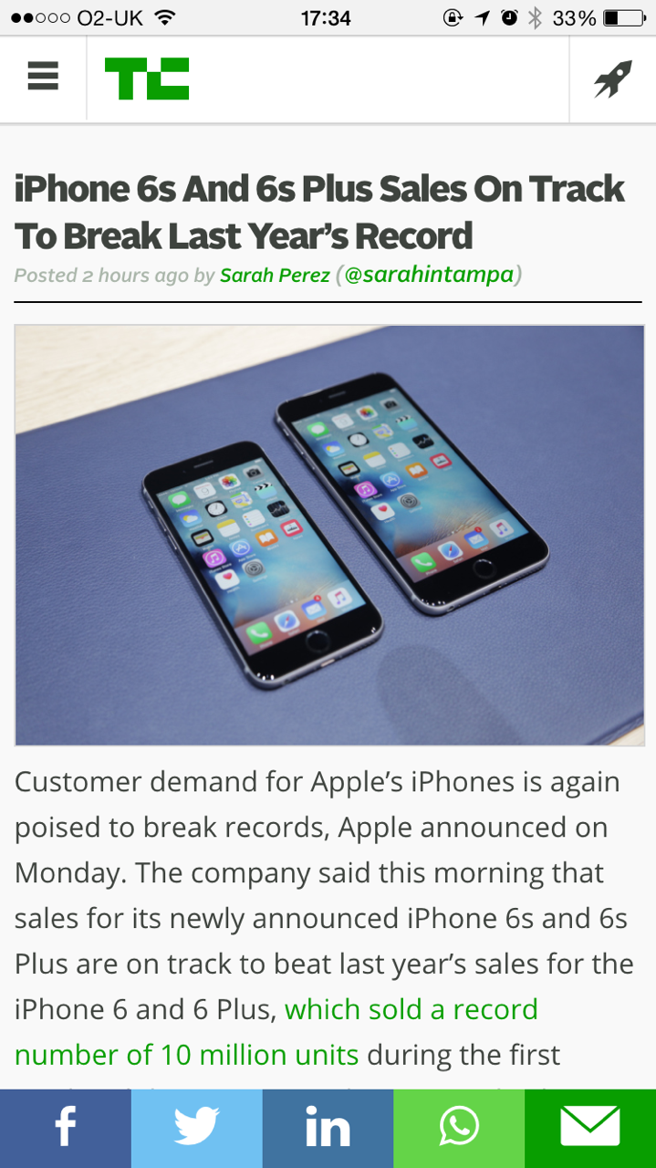 TechCrunch doesn't let you pinch and scroll on their responsive site.