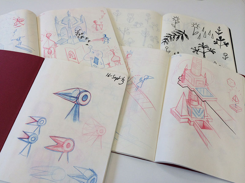 More of Ken's early concept sketches.