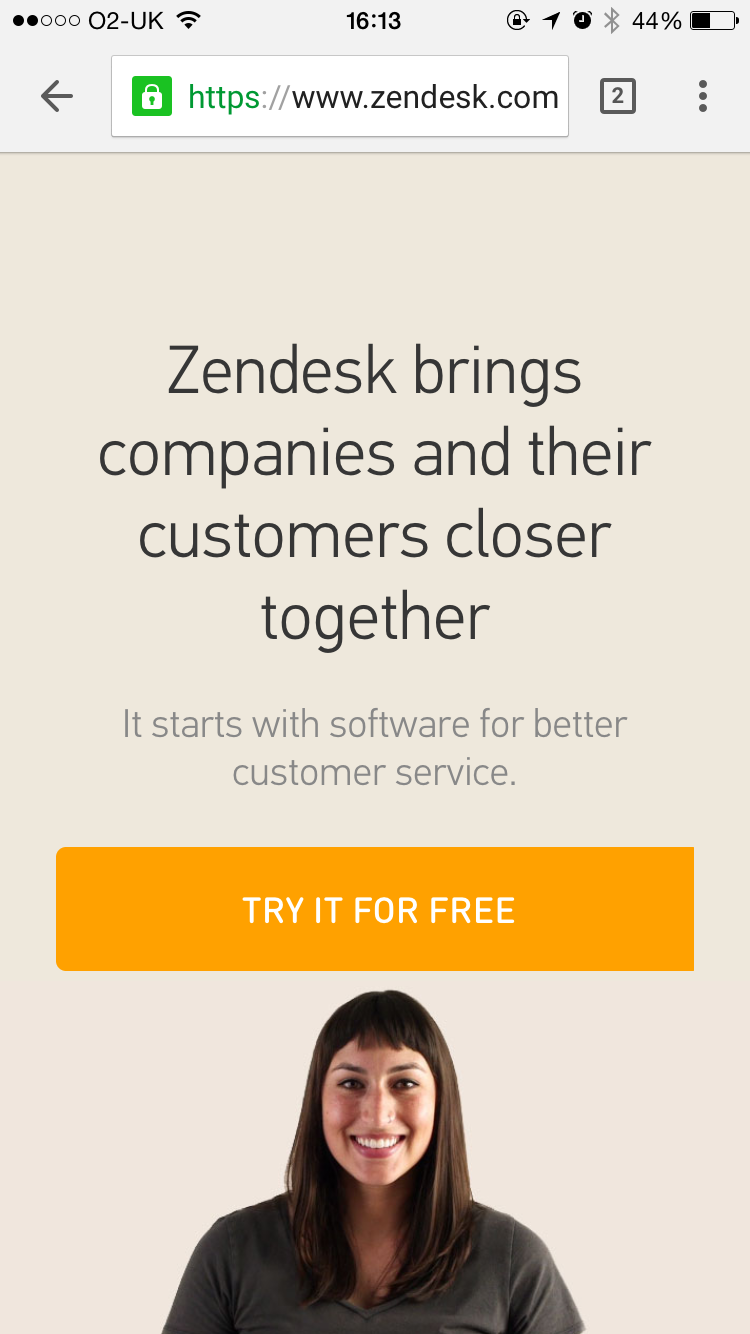 Zendesk's responsive design no longer relies on their desktop video.