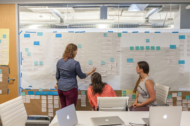 The innovative design team at DocuSign. Photo by Peter Prato.