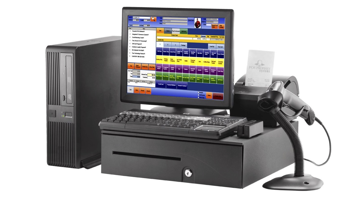 A traditional POS system