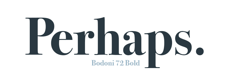 Bodoni submitted by Denise Villanueva, UX Designer and Letterer