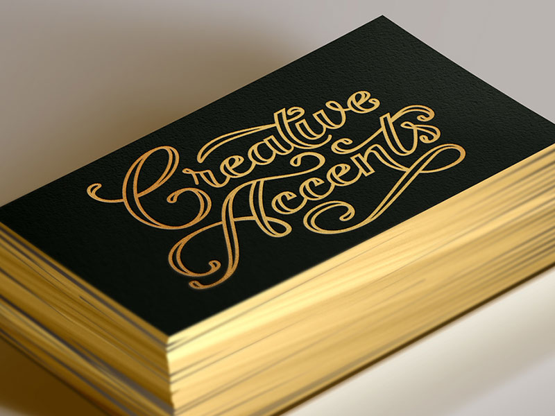 Business card design by Dina Rodriguez.