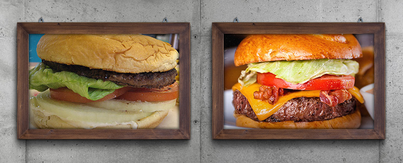 Which of these burgers would you rather eat?