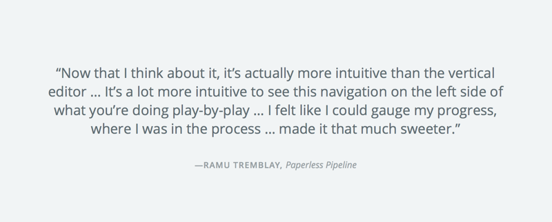 Feedback from Zapier customer Ramu Tremblay during a usability testing session.