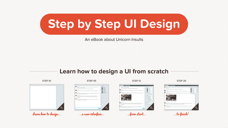 Step by Step UI Design by Sacha Greif.
