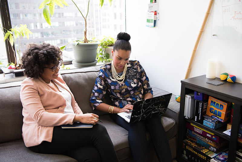 If you don't have a mentor, find one. Photo by #WOCinTech Chat.