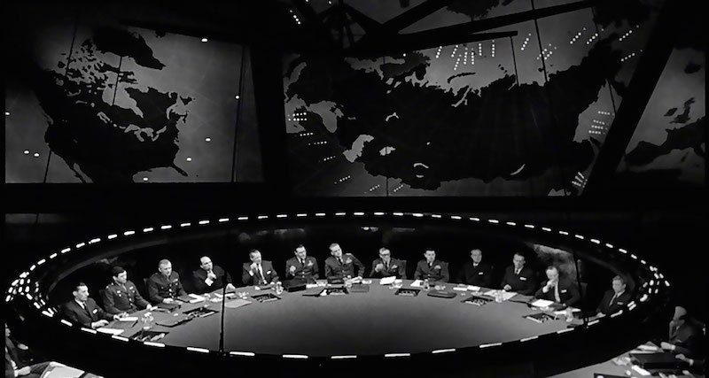 The war room in Dr. Strangelove. Image: Wikipedia.