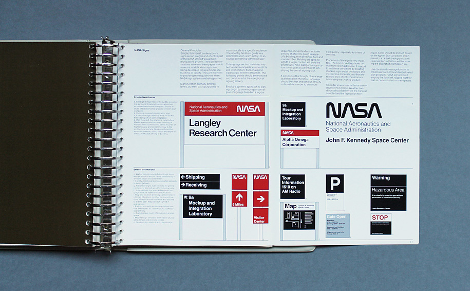 Brand guidelines from the past: A big binder full of NASA.