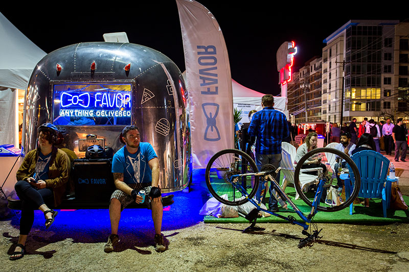 Favor's Official SXSW activation trailer allowed consumers to hang out inside of the brand—pulling in Austin/Airstream style with bold usage of Favor blue and iconography.