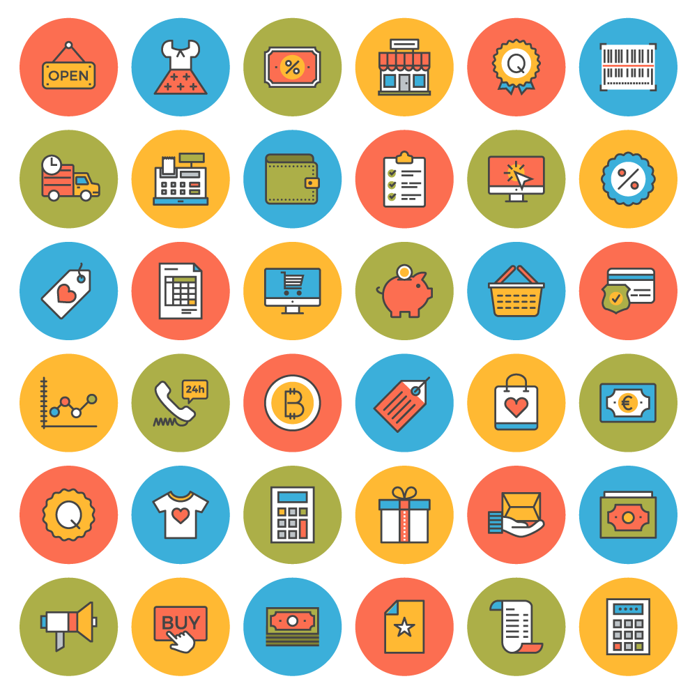Download 38 flat line ecommerce iconsfree invision blog flat line ecommerce icons preview altavistaventures Images