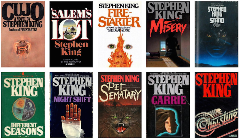 Stephen King novel covers, the inspiration behind the Stranger Things logo.
