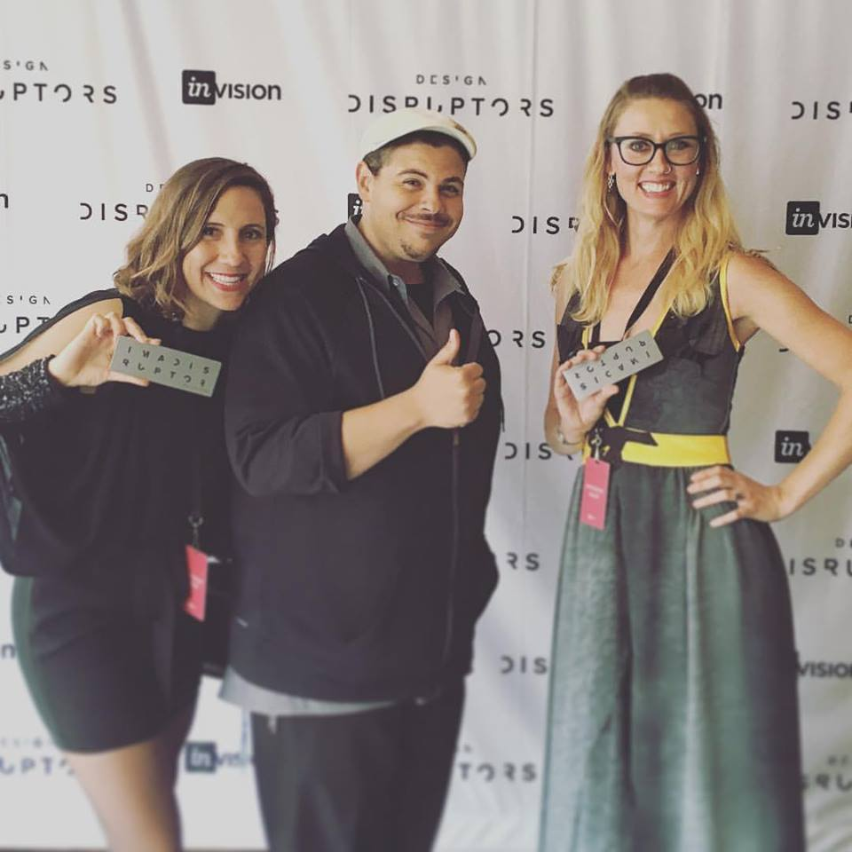 Michaela, InVision CEO Clark Valberg, and Sadie at the DESIGN DISRUPTORS premiere.