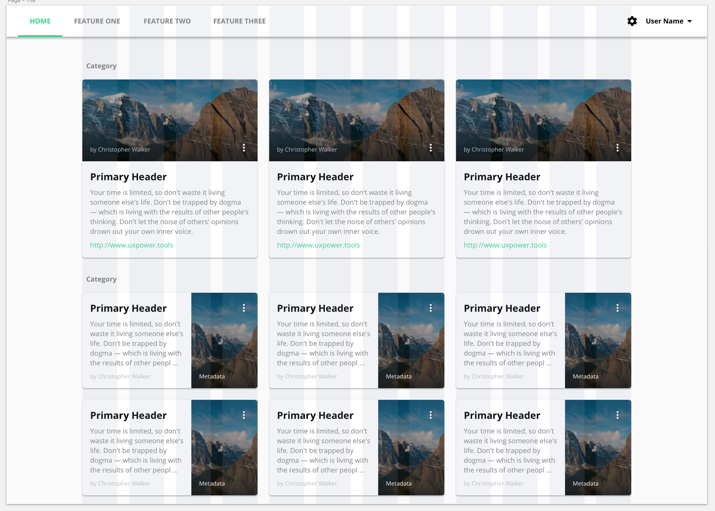 This is a fixed-width (floating) layout with a full-width header.