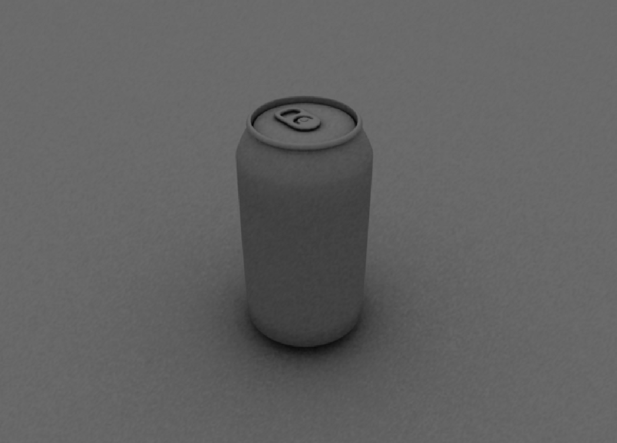 3D rendering of a plain can.