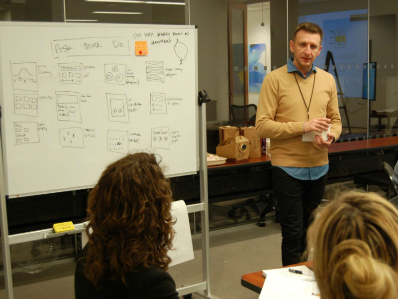 John teaching a recent design thinking workshop in NYC