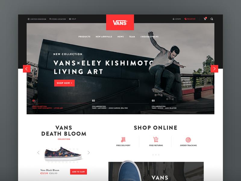 Vans Site Redesign Concept