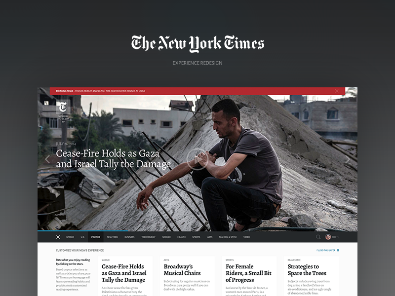 NYTimes Redesign