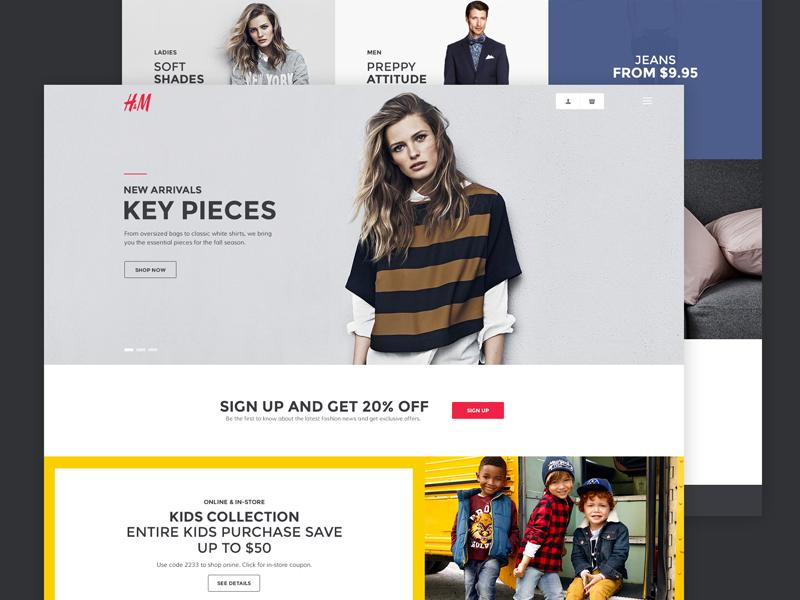 H&M Redesign Concept