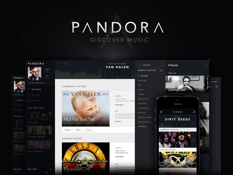 Pandora Redesign Concept