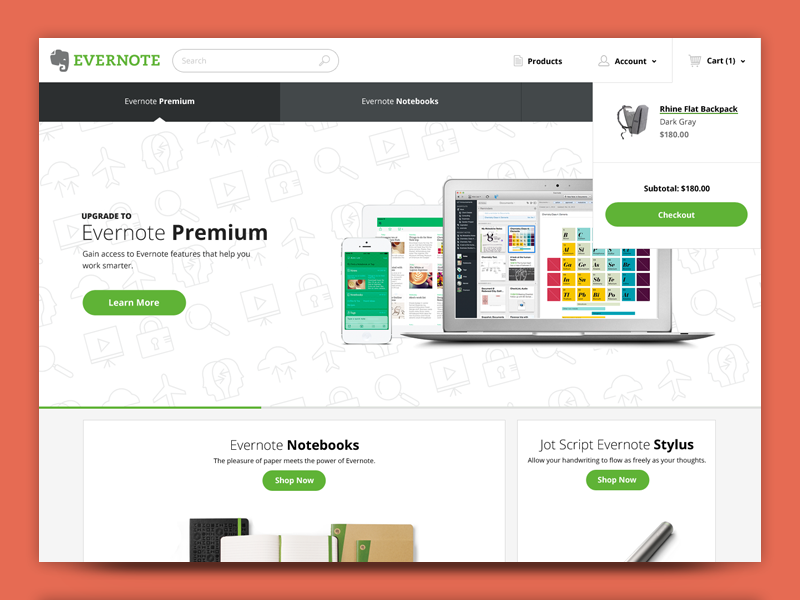 Evernote Site Redesign Concept