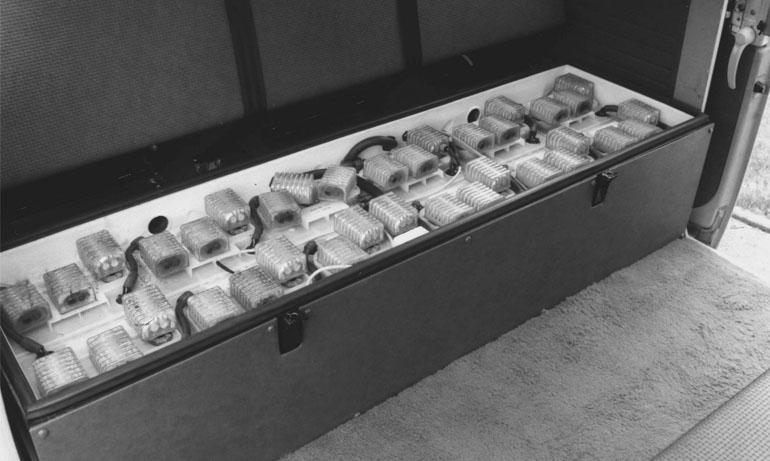 Paquete de baterías de plomo de 72 celdas, fuente de energía de combi Elektro Bus VW