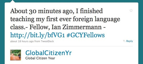 Global Citizen Year tweet