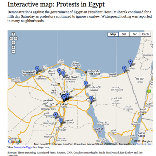 Crisis mapping Egypt