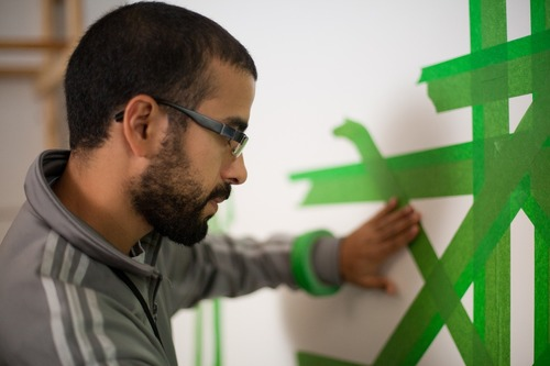 Image-wise: eL Seed at work at PopTech 2011