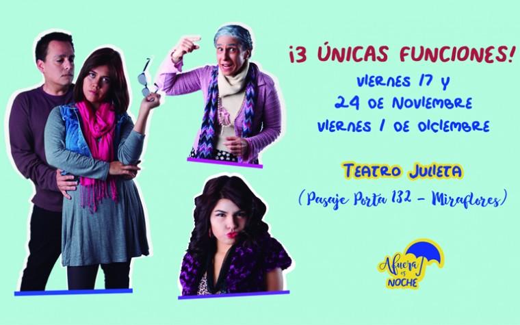 """La obra de teatro argentina """"Afuera es Noche"""" se estrenará este 17 de Noviembre en el Teatro Julieta"""