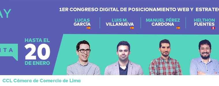 SEODAY: Realizarán el 1er Congreso Digital de Posicionamiento Web y Estrategias de Contenidos