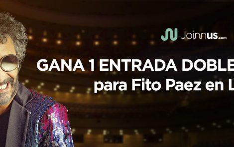 Condiciones legales del concurso: Gana una entrada doble para Fito Paez en Lima
