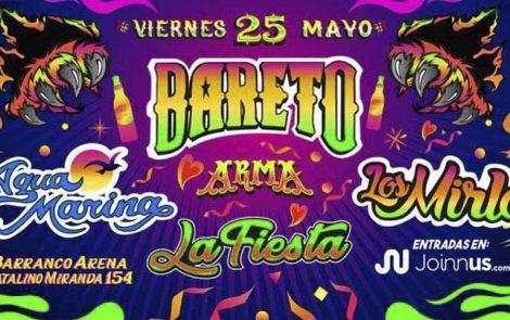 Bareto, Agua Marina y Los Mirlos en La Fiesta