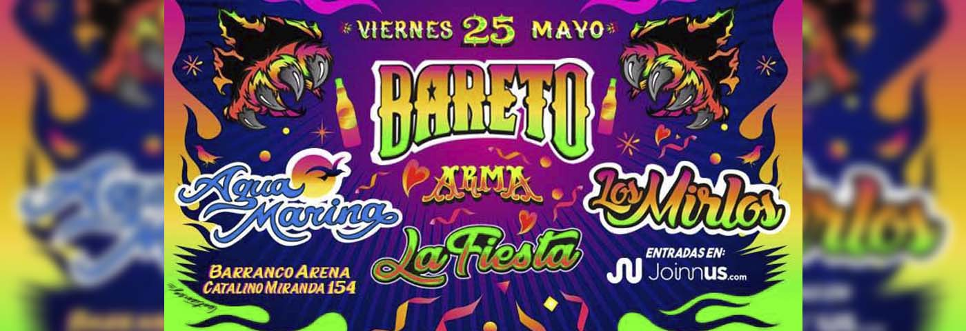 "Bareto, Agua Marina y Los Mirlos en La Fiesta</h1> <ul class=""postSocial""> <li class=""itemSocialShare""> <a href=""javascript:;"" class=""postSocialFacebook""> <img src=""http://blog.joinnus.com/wp-content/themes/binderpro/images/facebook.png""/> </a> </li> <li class=""itemSocialShare""> <a href=""javascript:;"" class=""postSocialTwitter""> <img src=""http://blog.joinnus.com/wp-content/themes/binderpro/images/twitter.png""/> </a> </li> <li class=""itemSocialShare""> <a href=""javascript:;"" class=""postSocialGoogle""> <img src=""http://blog.joinnus.com/wp-content/themes/binderpro/images/google.png""/> </a> </li> <li class=""itemSocialShare""> <a href=""whatsapp://send?text=Échale un vistazo a este evento 'Bareto, Agua Marina y Los Mirlos en La Fiesta' http://blog.joinnus.com/bareto-agua-marina-y-los-mirlos-en-la-fiesta/"" class=""postSocialWhatsapp"" data-action=""share/whatsapp/share""> <img src=""http://blog.joinnus.com/wp-content/themes/binderpro/images/whatsapp.png""/> </a> </li> </ul>"