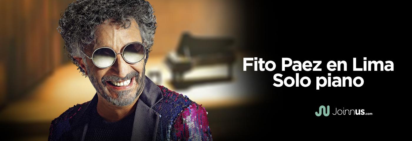 """La segunda fecha de Fito Paez en Lima """"Sólo Piano"""" ya está a la venta"""