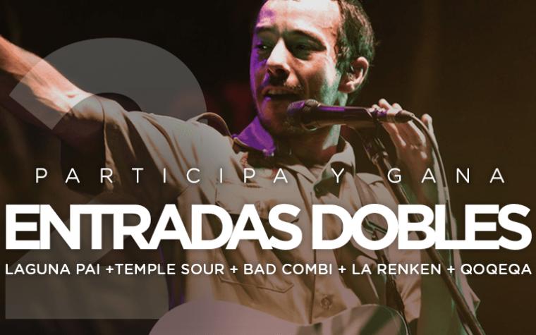 Condiciones legales del concurso: 2 entradas dobles para el Festival ContraCultura: Laguna Pai en concierto