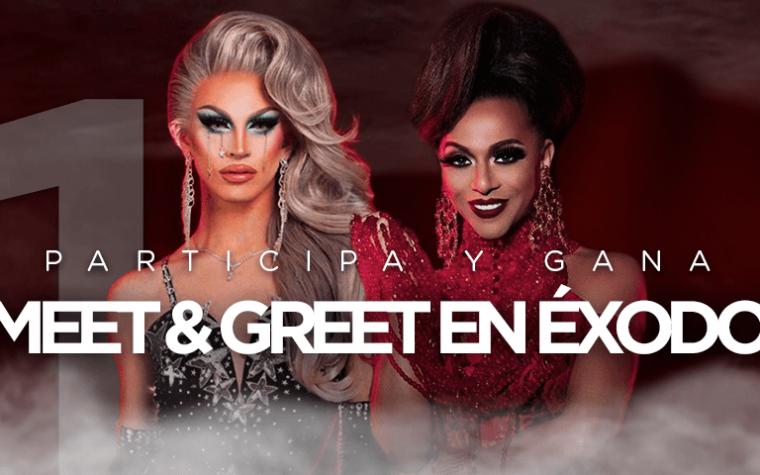 Condiciones legales del concurso: 1 Meet & Greet con Aquaria + Shangela en Éxodo.