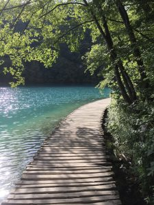 Beautiful path on Plitvice Lake