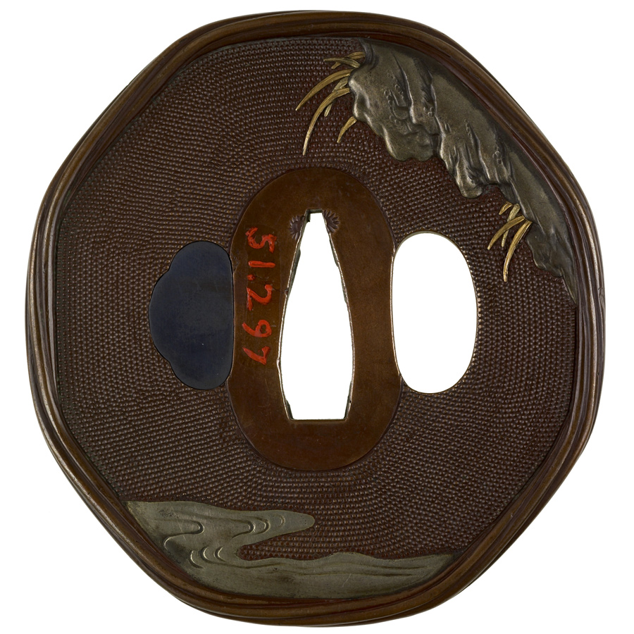 Iwama_Masayoshi_-_Tsuba_with_Monkeys_-_Walters_51297_-_Back