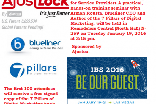 Blueliner CEO To Host Digital Marketing Seminar at NAHB International Builders' Show 2016
